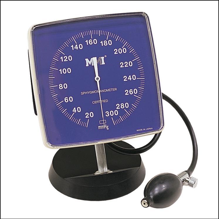 円形表示の血圧計