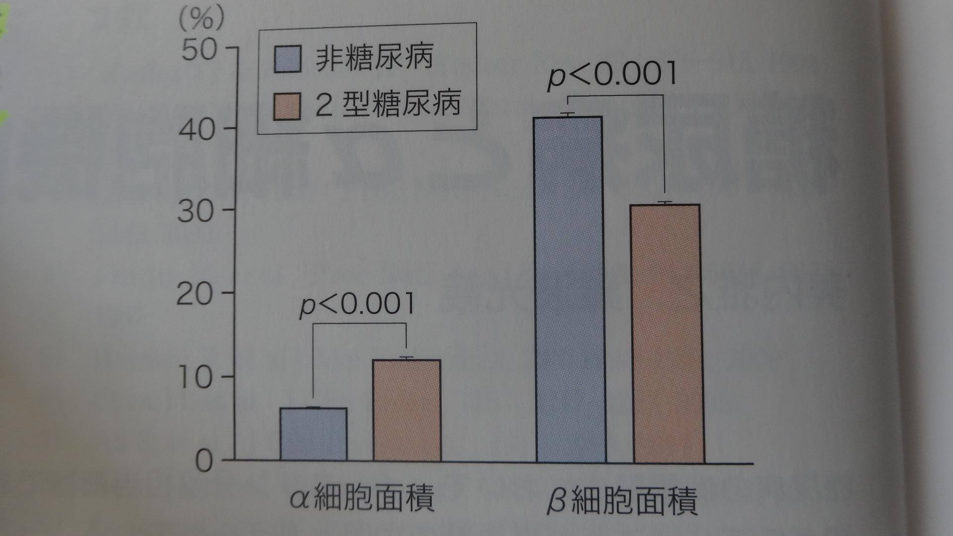 糖尿病患者におけるα細胞 β細胞の増減