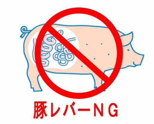 豚の生レバーの禁食キャンペーンのポスター