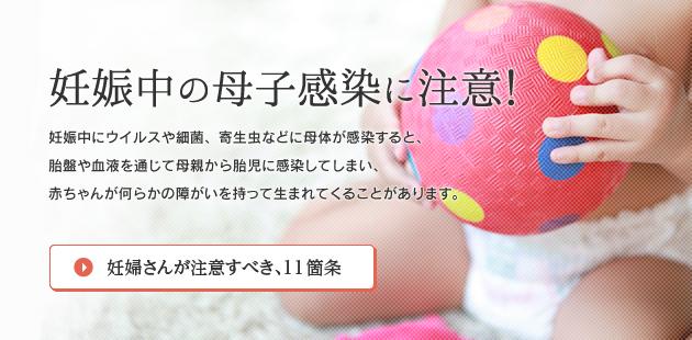 妊婦への感染の注意を喚起するポスター