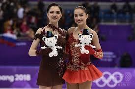 メドベージェワとザギトワが並んで立つ写真