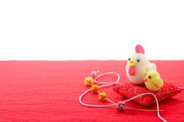 鶏の年賀の置物