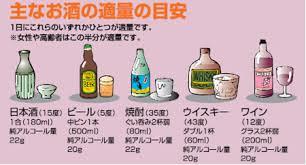 主なお酒の適量の目安