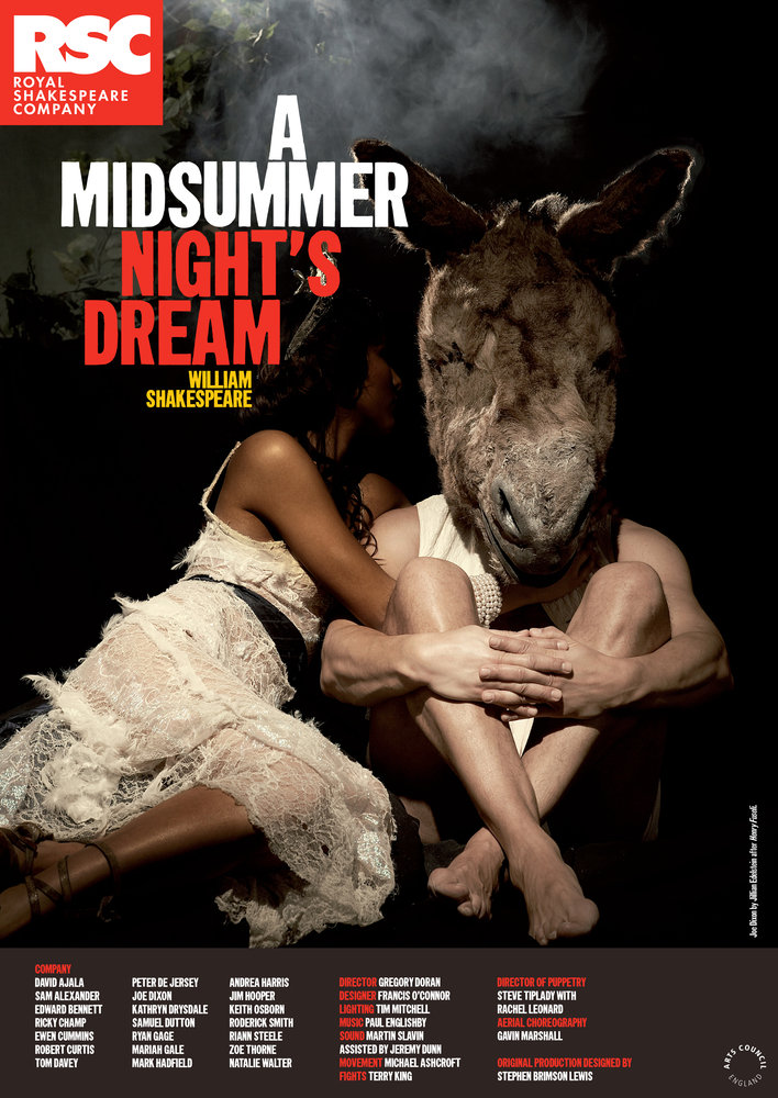RSC公演の「真夏の世の夢」のパンフレット