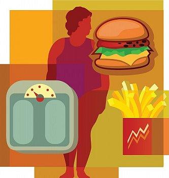 肥満の人のイラスト