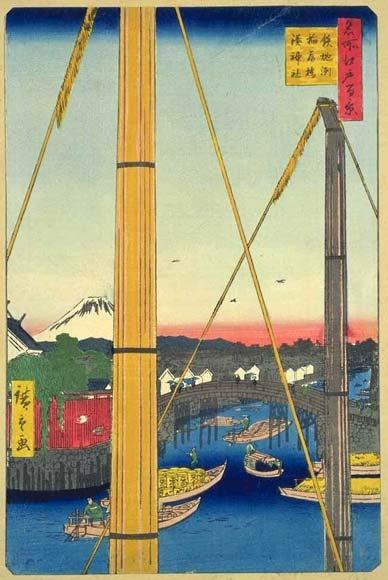 鉄砲洲稲荷神社の浮世絵