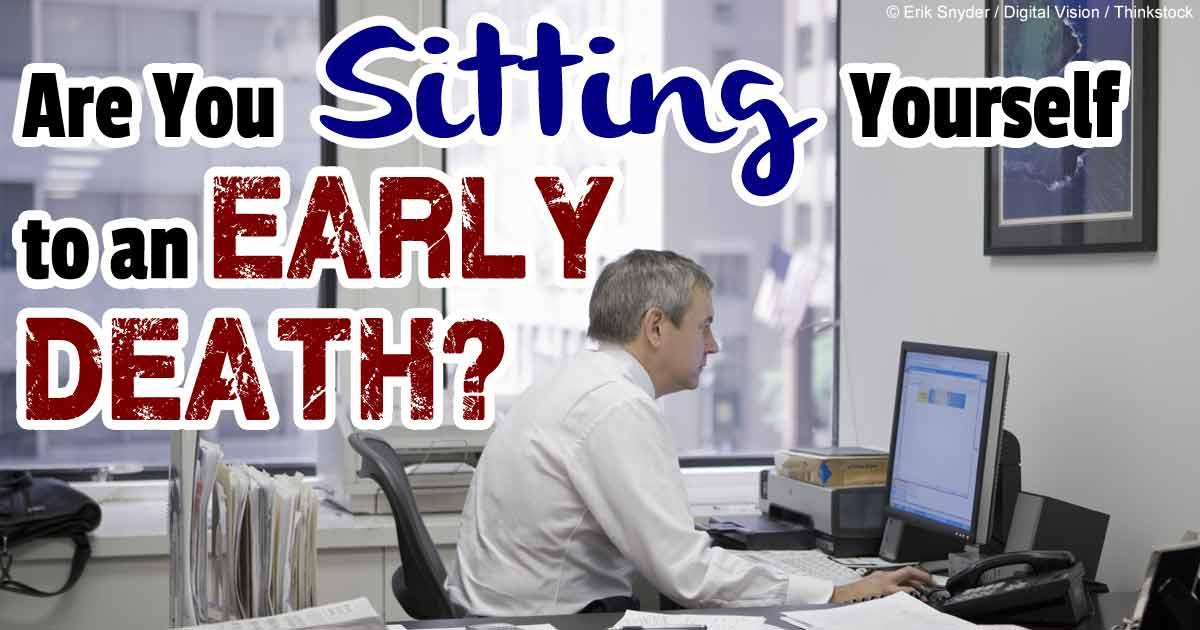 長時間座っていると死亡確率が増える
