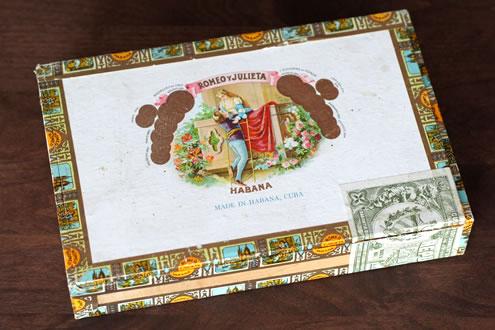 ロミオ・ジュリエッタのシガーの箱