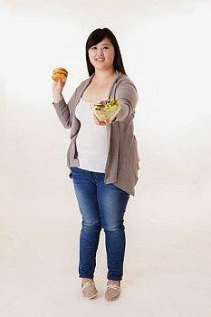 軽い肥満の日本人の写真