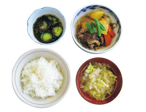 1975年頃の日本食
