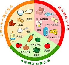 健康にとって重要な多くの種類の食材をまとめた図