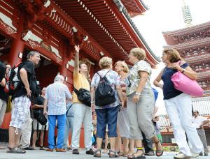 外国人観光客の写真