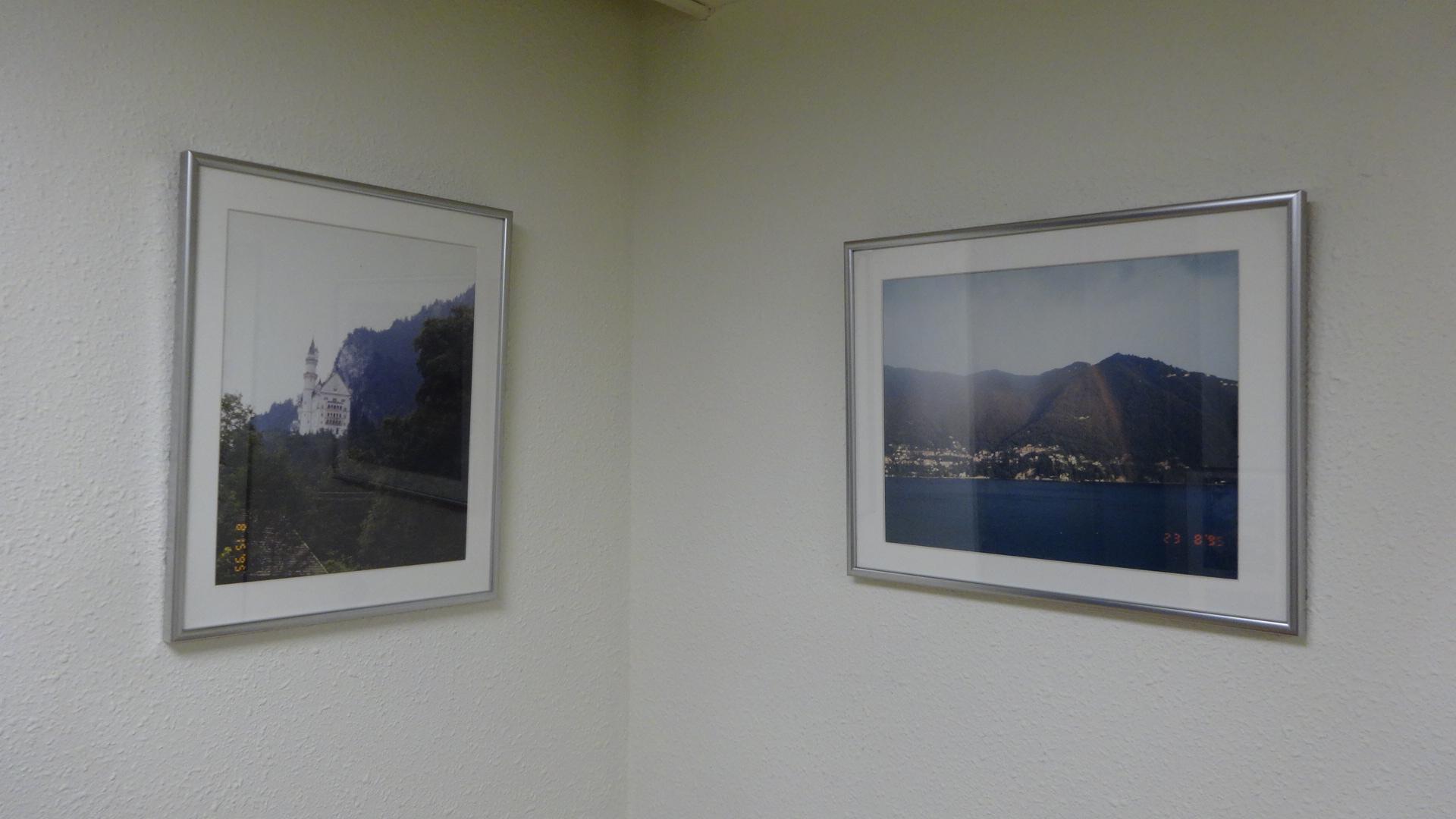 壁にかけてあるヨーロッパで撮った写真その2