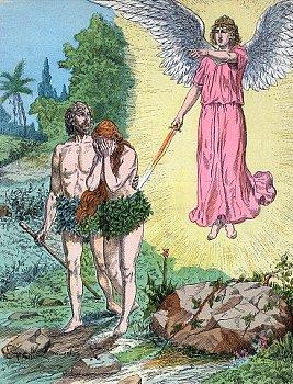追放されるアダムとイブ