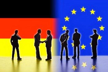 EUとドイツの国旗