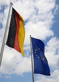 ドイツとEUの国旗