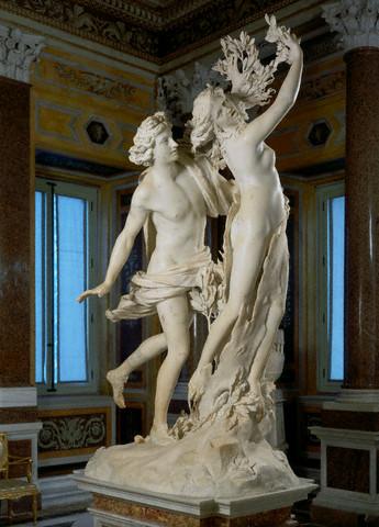 ベルニーニのダフネとアポロンの彫刻