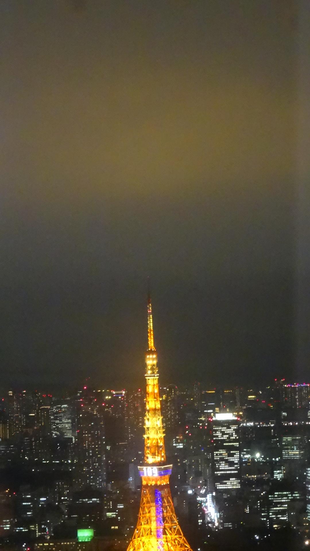 東京タワーの幻想的な夜景