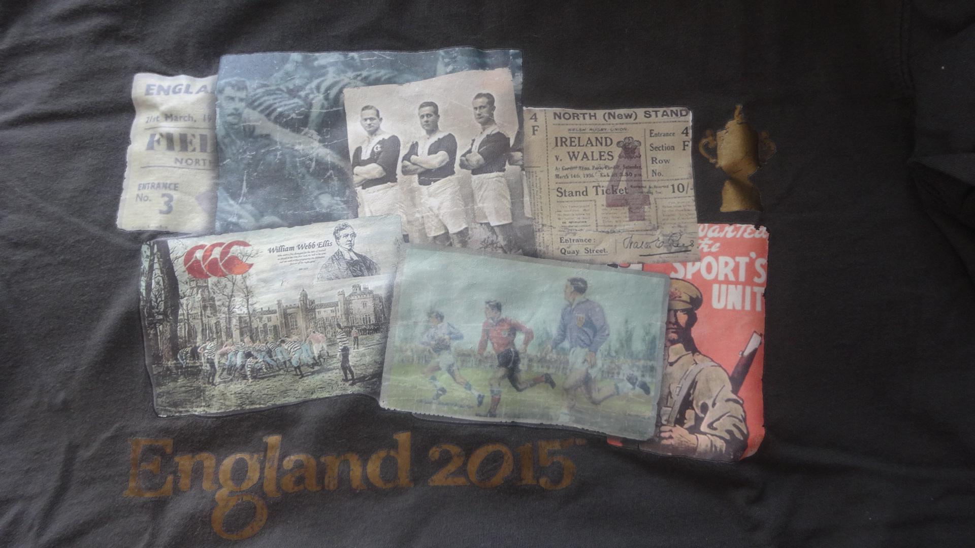 ラグビーワールドカップの公式Tシャツ