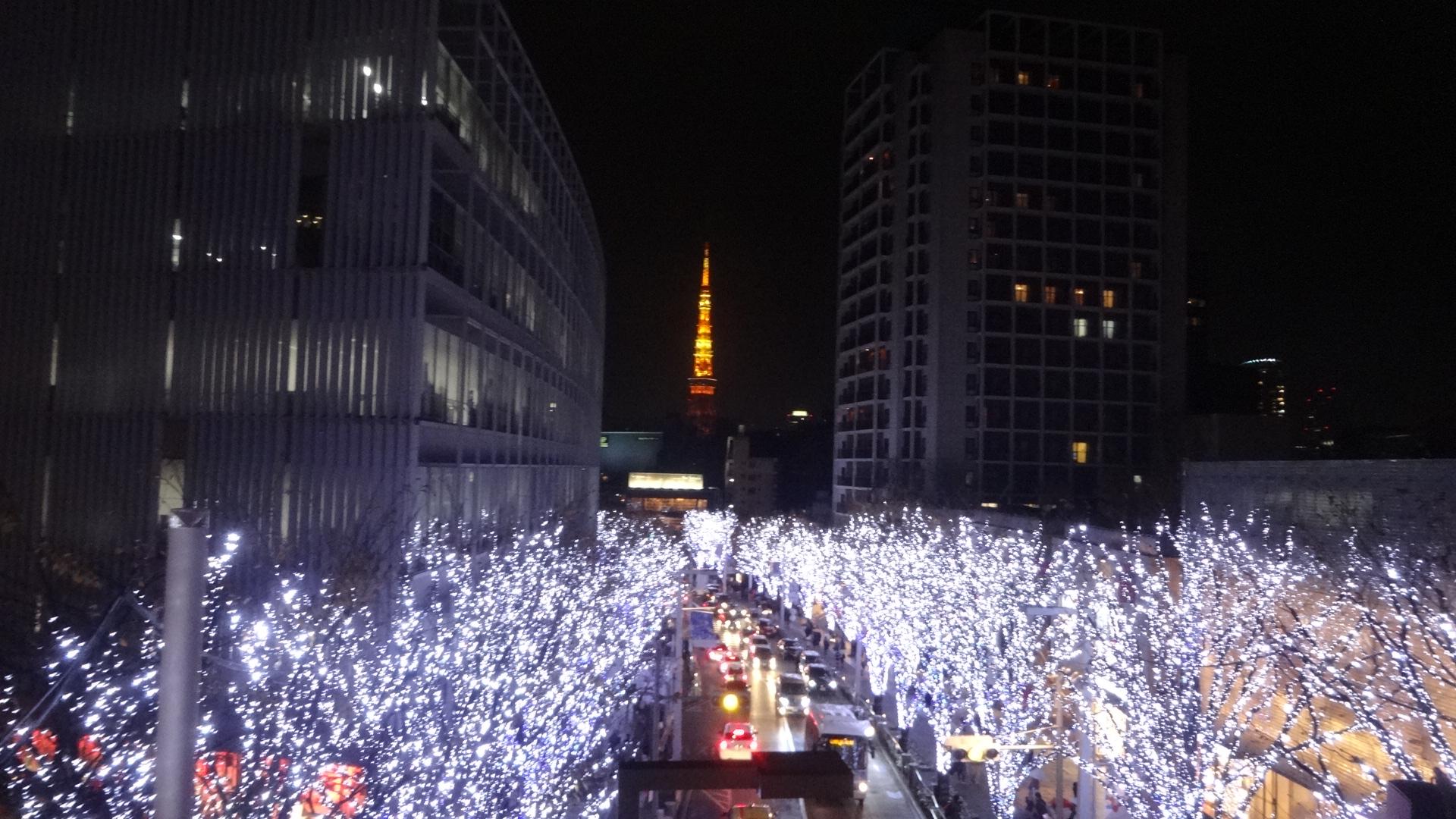 けやき坂と東京タワーのコラボ
