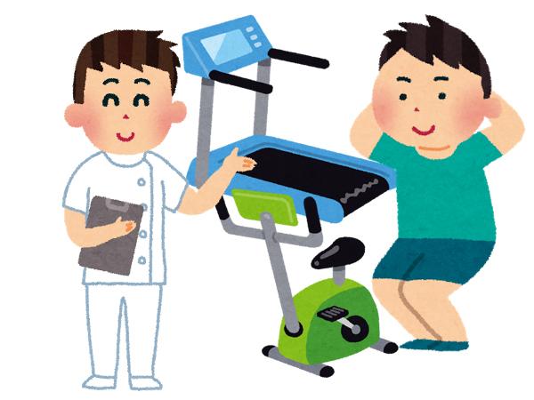 筋力強化運動をしている人