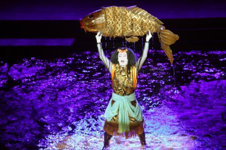 鯉つかみのの舞台の写真