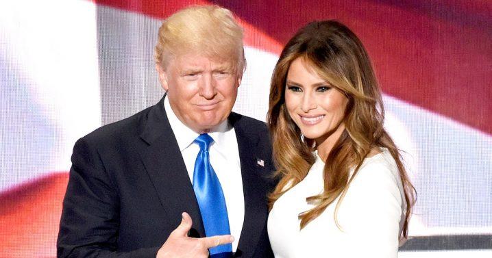 トランプ大統領夫妻の写真