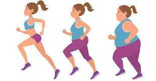 ジョギングする肥満な人の姿