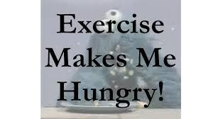 運動後にお腹が空く と書かれたメッセージカード