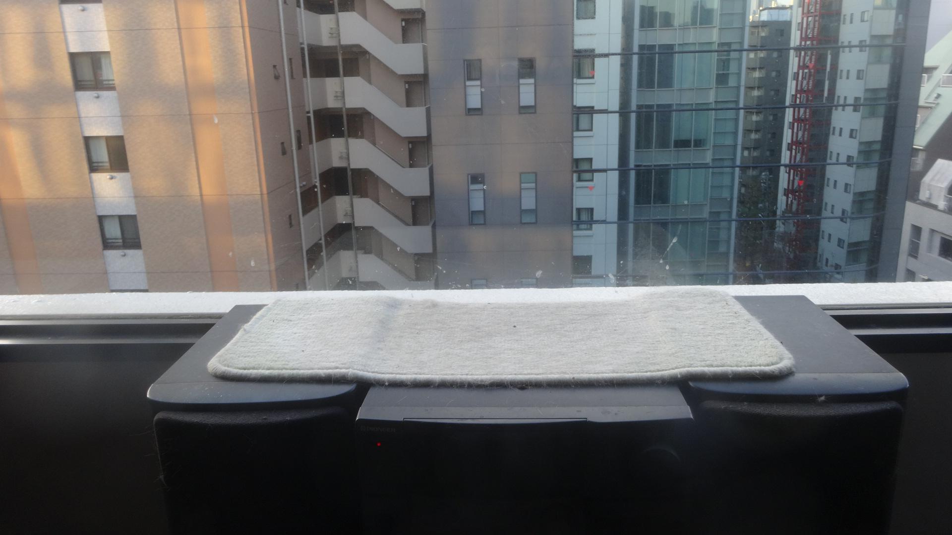 窓際に敷かれたマット