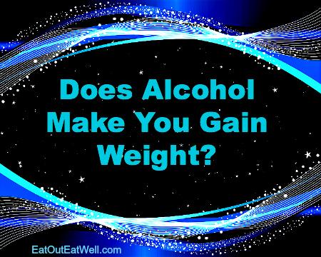 酒を飲むと太るか?と書かれたポスター