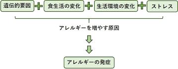発症に関与する遺伝要因 環境要因についてまとめた図