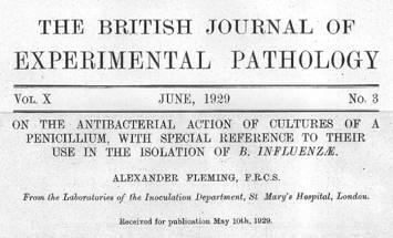 ペニシリンの発見を報告する論文