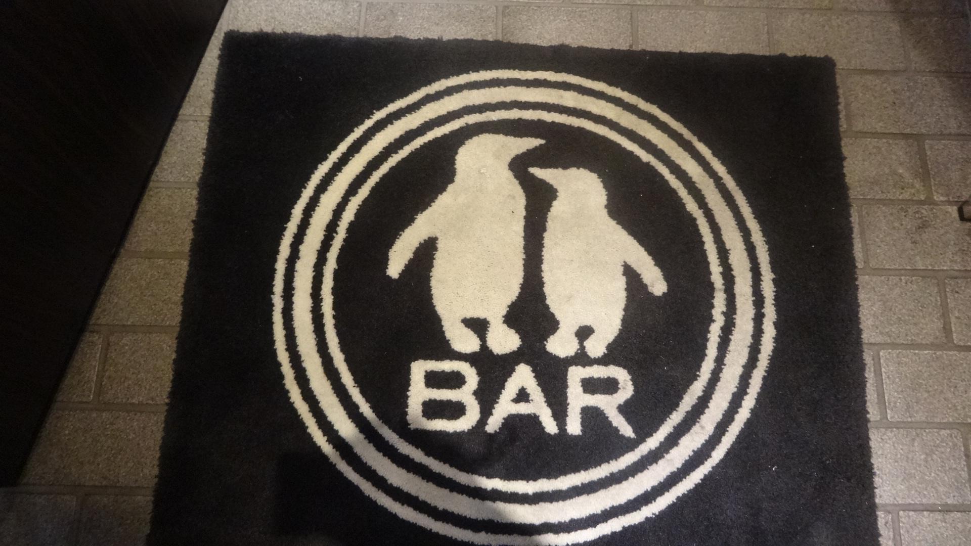 BARの入口のシート