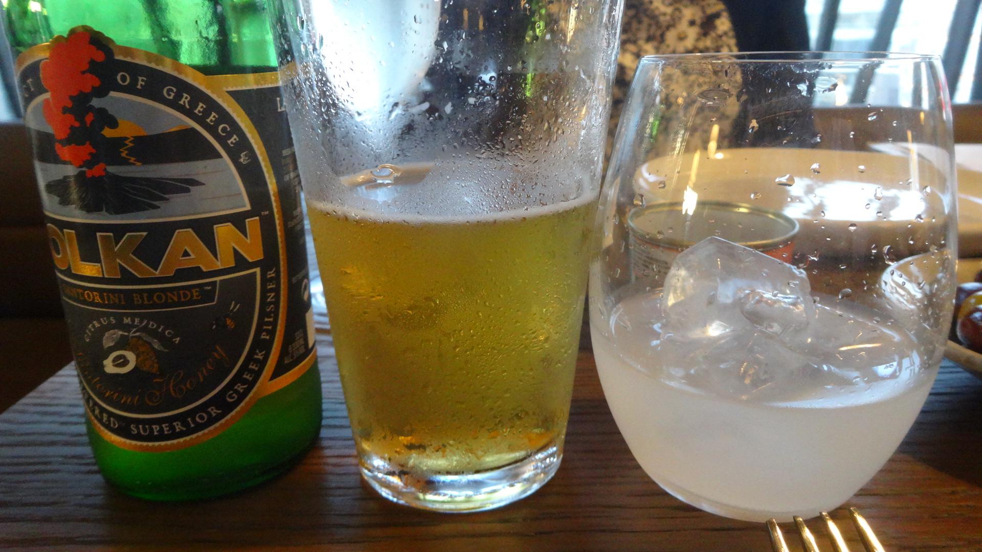 ギリシアビールとウゾー