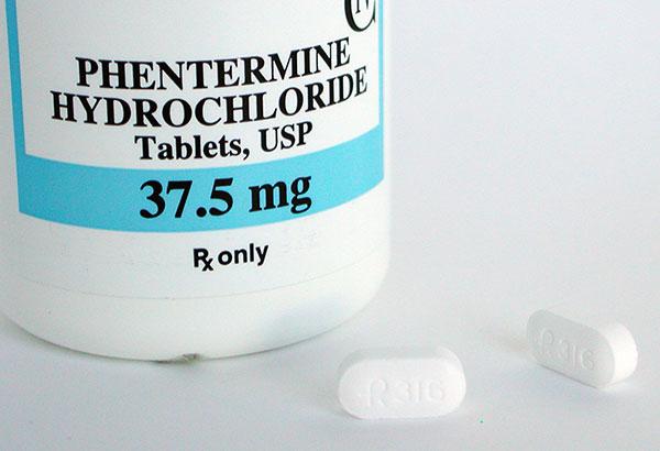 Phentermineの錠剤