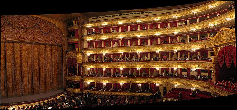 ボリショイ劇場の内部の様子