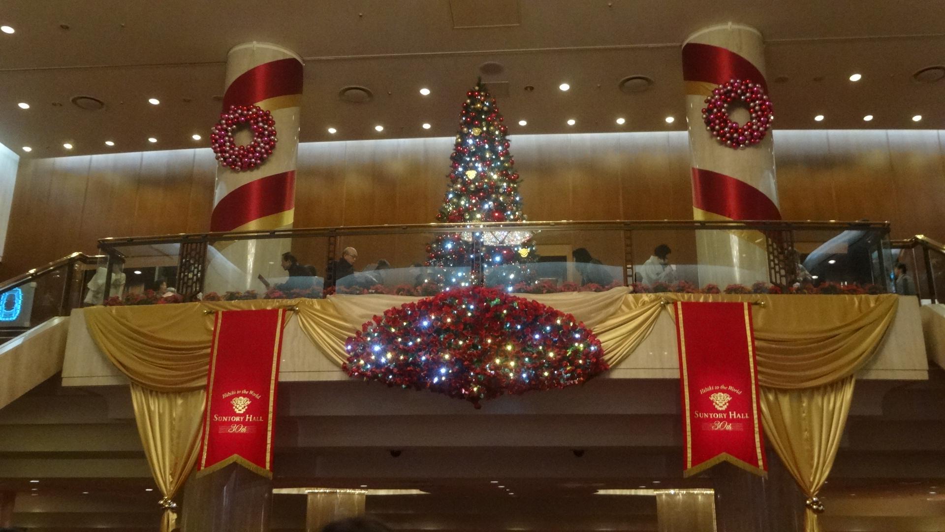 サントリーホールのクリスマス・デコレーション