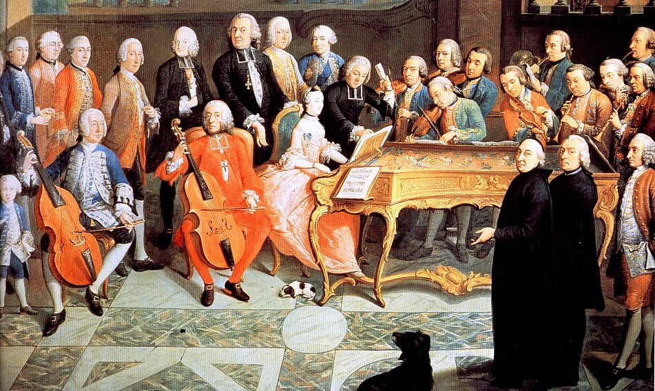 バロック音楽を演奏するチェリスト