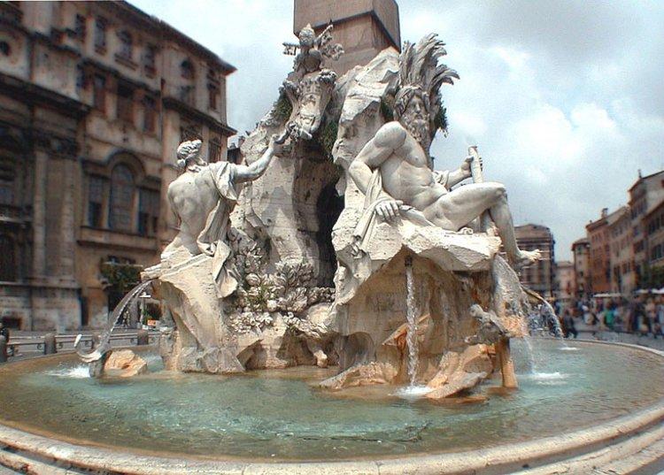 ローマの街並みの写真
