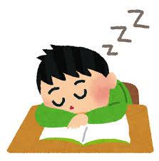居眠りする人