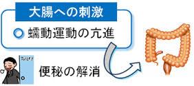 刺激性下剤の作用機序を示す図