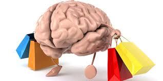 買い物をしている脳のイラスト