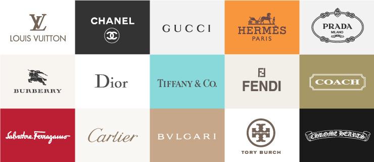 さまざまなブランドのロゴ写真