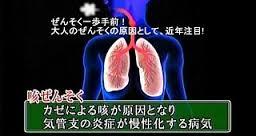 咳喘息の喘息への移行を注意する図