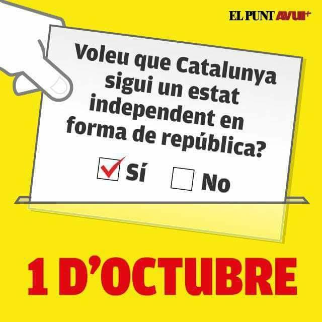 独立選挙の投票用紙