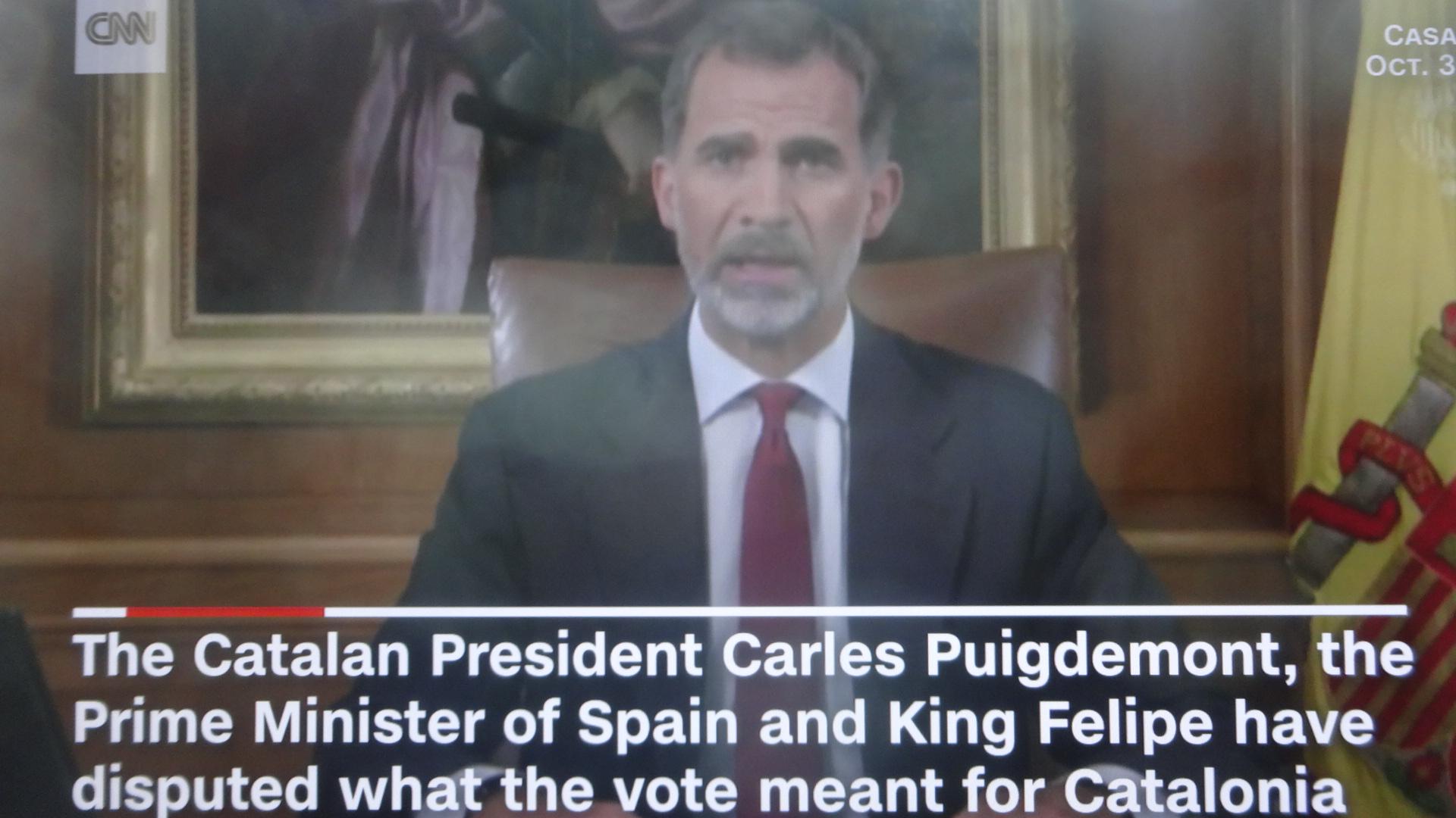 会見するフェリペ国王