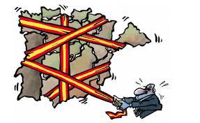 スペインをひとつにしようとしているイラスト