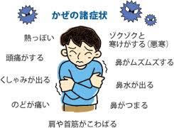 風邪の症状をまとめた図