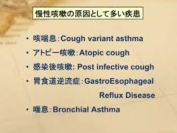 慢性咳嗽の原因となる疾患をまとめた表